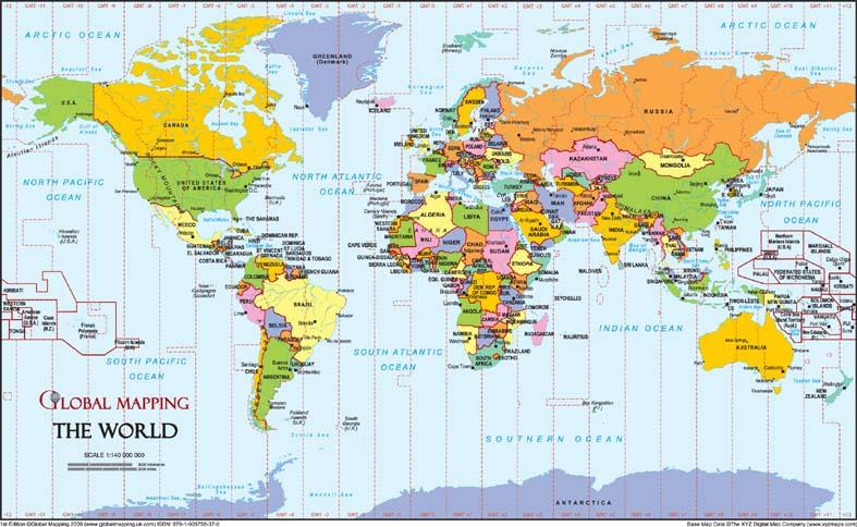 World a4 timezones map global mapping isbn 9781905755370 map world a4 timezones map global mapping gumiabroncs Images