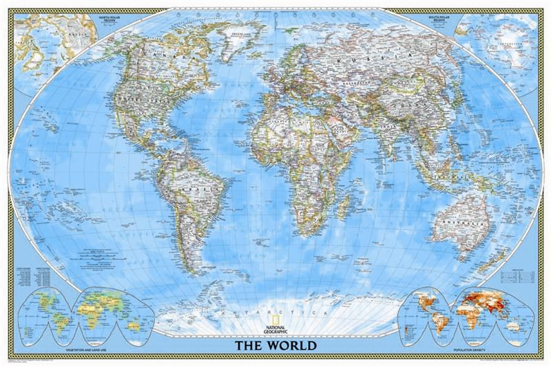 Classic political map of the world national geographic large classic political map of the world national geographic large size encapsulated gumiabroncs
