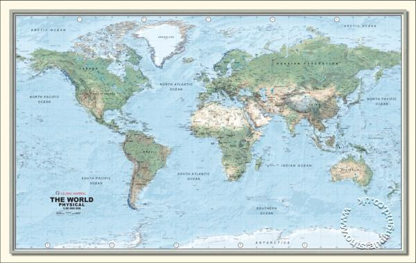 Physical world wall map medium global mapping wall map isbn physical world wall map medium global mapping wall map gumiabroncs Choice Image