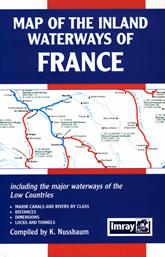 Map of the Inland Waterways of France - Imray Maps