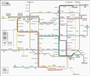 Beijing Transport Map, China. Metro and Trolleybus Map