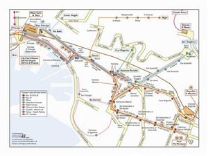 Genoa Transport Map, Italy. Metro, Bus, Funicular, Lifts, Railway and Caselle Map