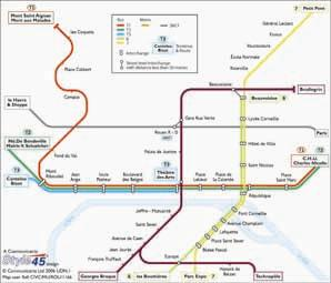 Rouen Transport Map, France. Tram, Bus and SNCF Map | Map Stop | Top ...