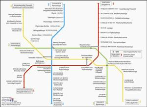 St Petersburg Transport Map, Russia