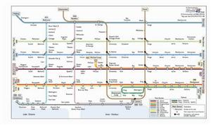Toronto Transport Map, Canada. Subway and Trolleybus Map