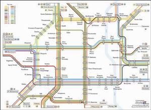 Warsaw Transport Map, Poland. Tram and Metro Map