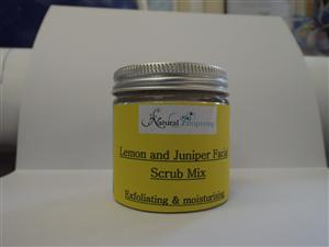 Lemon and Juniper Facial Scrub - Natural Pampering