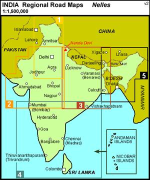 India West, Asia - Travel Map - Nelles Maps