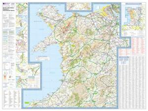 North and Mid Wales - Ordnance Survey Travel / Tour Map