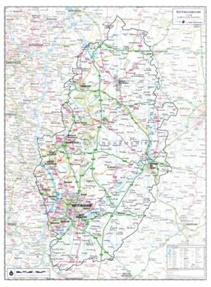Nottinghamshire - County Maps