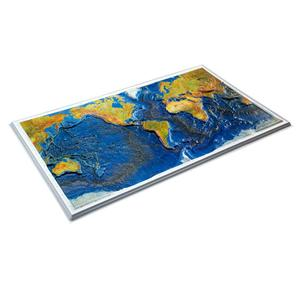 Ocean Floor Raised Relief Map