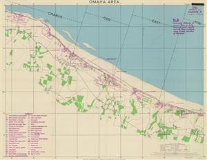 DDay Omaha Beach Map-Northern France