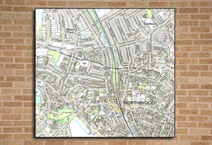 Ordnance Survey map centred on your school, 2km x 2km, Outdoor Map - Tiger Moon