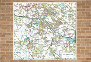 Ordnance Survey map centred on your school, 10km x 10km , Outdoor Map - Tiger Moon
