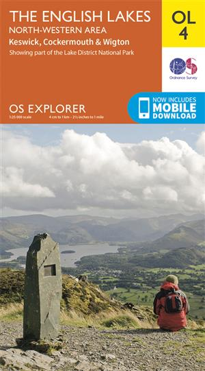 Outdoor Leisure 04 - The English Lakes - North-western area - Ordnance Survey