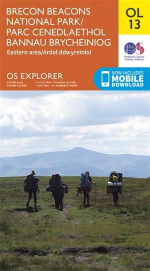 Outdoor Leisure 13 - Brecon Beacons National Park - Eastern Area - Ordnance Survey