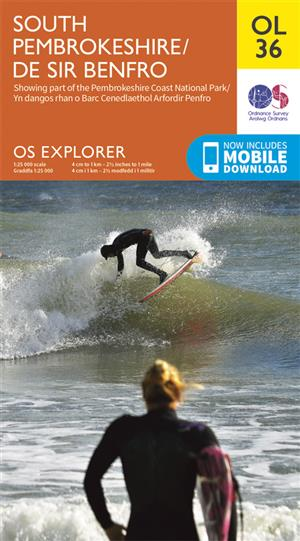 Outdoor Leisure 36 - South Pembrokeshire / De Sir Benfro, Wales - Ordnance Survey