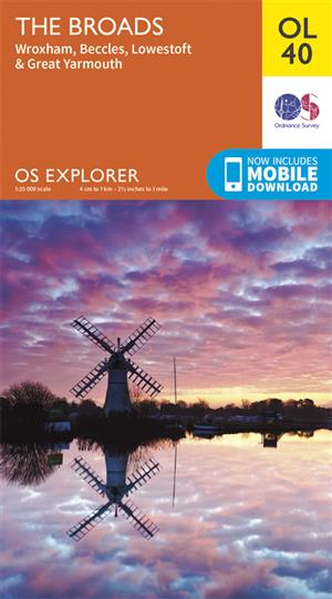Outdoor Leisure 40 - The Broads - Ordnance Survey