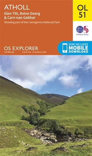 Outdoor Leisure 51 - Glen Shee & Braemar - Ordnance Survey