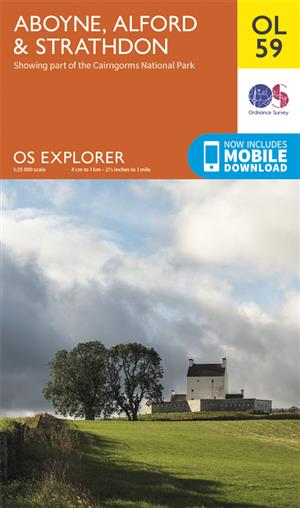 Outdoor Leisure 59 - Aboyne, Alford & Strathdon - Ordnance Survey
