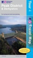 Peak District and Derbyshire, England - Ordnance Survey Travel / Tour Map
