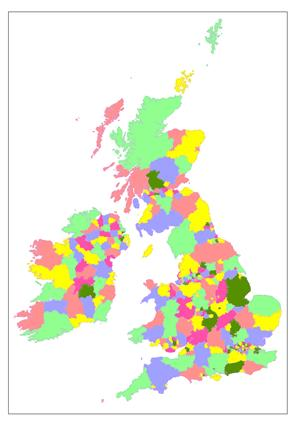 Peoples Map GB Political Boundaries - County, Unitary Authority data