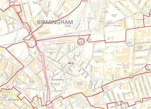 Birmingham Postcode Sector Map - PDF FILE