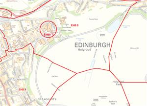 Edinburgh Postcode Sector Map - PDF FILE
