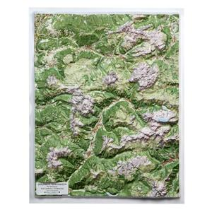 Dolomites Raised Relief Map - Unframed