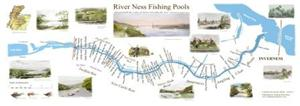 River Ness Fishing Pools Map