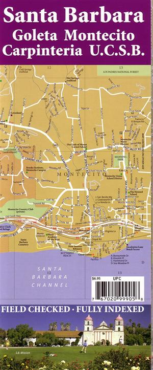 Santa Barbara Street Map, California - Map Link