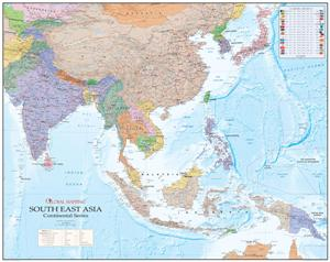 South East Asia Wall Map - Global Mapping