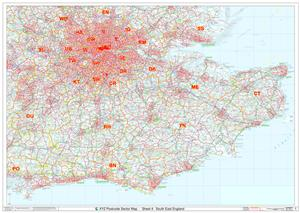 04 South East England - Postcode Sectors Map - GIF FILE