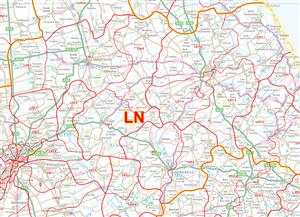 11 Lincolnshire and Derbyshire - Postcode Sectors Map - PDF FILE