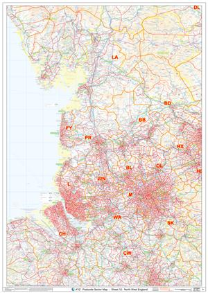 12 North West England - Postcode Sectors Map - PDF FILE