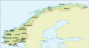 Norway, Simple Map of - Digital Download - XYZ