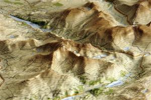 Snowdonia, Wales, Unframed Raised Relief Map - Dorrigo Maps