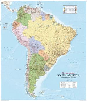 South America Wall Map - Global Mapping