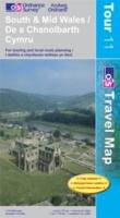 South and Mid Wales - Ordnance Survey Travel / Tour Map