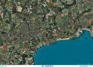 SkyView St. Austell Aerial Photo- Cornwall, England (Includes Eden Project)