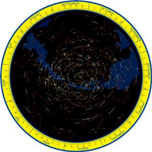 Planisphere, Northern Hemisphere...NEW 2 Sided Edition...- Global Mapping