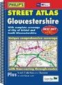 Gloucestershire, England Spiral Street Atlas - Philip's Map