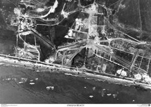 SkyView DDay Omaha Beach Aerial Photo-Northern France