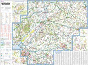 The Cotswolds and Gloucestershire, England - Ordnance Survey Travel / Tour Map