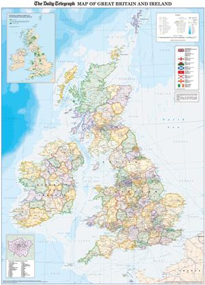 Olympic 2012 Venue British Isles Map - The Daily Telegraph, Roger Lascelles Map