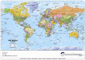Promotional World Map Deskmat - Global Mapping