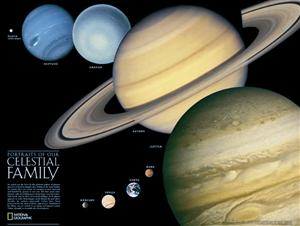 The Solar System poster, National Geographic - Was £13.19 now £9.99