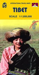 Tibet ITMB International Travel Maps