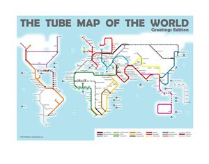 Tube Map of the World- Greetings Edition