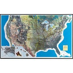 USA Relief Map Unframed